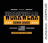 vintage denim typography  t... | Shutterstock .eps vector #1428996185