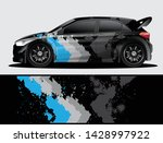 rally car decal graphic wrap...   Shutterstock .eps vector #1428997922