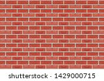 red bricks wall texture... | Shutterstock . vector #1429000715