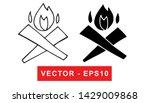 black and white vector... | Shutterstock .eps vector #1429009868