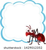 ant on blank background... | Shutterstock .eps vector #1429012352