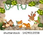 wild animal on nature template... | Shutterstock .eps vector #1429013558