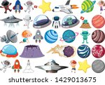 set of solar system illustration | Shutterstock .eps vector #1429013675