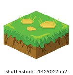 soil layers vector isometric...