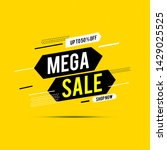 final sale banner  up to 70 ... | Shutterstock .eps vector #1429025525