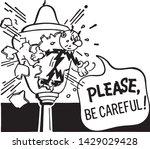 please be careful   retro ad... | Shutterstock .eps vector #1429029428