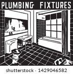 plumbing fixtures   retro ad... | Shutterstock .eps vector #1429046582