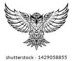 flying owl black silhouette...   Shutterstock .eps vector #1429058855
