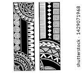polynesian tattoo design. black ...   Shutterstock .eps vector #1429071968