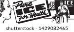 pure ice for health   retro ad... | Shutterstock .eps vector #1429082465