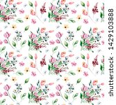 seamless background  floral... | Shutterstock . vector #1429103888