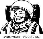 astronaut happy  landing down... | Shutterstock .eps vector #1429112432