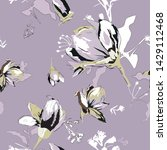 floral seamless pattern with...   Shutterstock .eps vector #1429112468