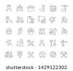 set of vector line icons of... | Shutterstock .eps vector #1429122302