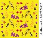 vector cute flower pattern use...   Shutterstock .eps vector #1429122452