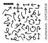 arrows set. handmade style....   Shutterstock .eps vector #1429128518