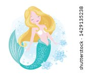 beautiful mermaid for t shirts... | Shutterstock .eps vector #1429135238