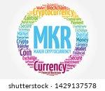 mkr or maker cryptocurrency... | Shutterstock .eps vector #1429137578