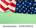 american flag on green ... | Shutterstock . vector #1429145522
