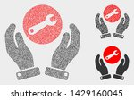 dotted and mosaic wrench repair ...   Shutterstock .eps vector #1429160045