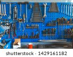Wrenches Set In The Workshop....