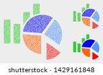dot and mosaic statistics...   Shutterstock .eps vector #1429161848