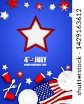 4th of july happy independence... | Shutterstock .eps vector #1429163612
