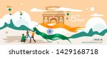 india independence day. 15... | Shutterstock .eps vector #1429168718
