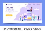 online check in landing page ... | Shutterstock . vector #1429173008