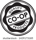 quality coop products   retro... | Shutterstock .eps vector #1429173185