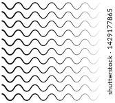 wavy pattern. waves outline... | Shutterstock .eps vector #1429177865