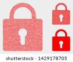 dot and mosaic lock icons....   Shutterstock .eps vector #1429178705