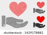 dot and mosaic heart donation...   Shutterstock .eps vector #1429178882