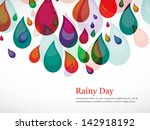 rainy season background with... | Shutterstock .eps vector #142918192