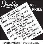 quality vs price   retro ad art ...   Shutterstock .eps vector #1429189802