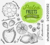 fruits illustration for paleo...   Shutterstock .eps vector #1429205582