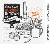 burger illustration for... | Shutterstock .eps vector #1429205588