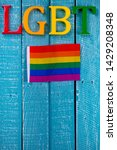 top down image showing lgbt... | Shutterstock . vector #1429208348