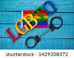 top down image showing lgbtq... | Shutterstock . vector #1429208372