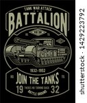 War Tank Battalion Poster Design