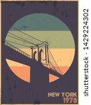brooklyn bridge new york city... | Shutterstock .eps vector #1429224302