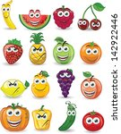 cartoon fruits with different... | Shutterstock .eps vector #142922446