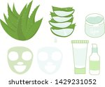 aloe vera flat vector icons set ... | Shutterstock .eps vector #1429231052