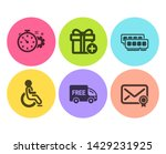 add gift  cogwheel timer and... | Shutterstock .eps vector #1429231925