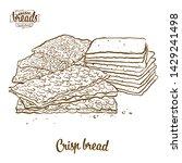 crisp bread bread vector... | Shutterstock .eps vector #1429241498