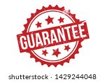 guarantee rubber stamp.... | Shutterstock .eps vector #1429244048