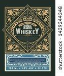 whiskey label for packing....   Shutterstock .eps vector #1429244348