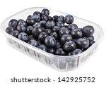 blueberry in plastic... | Shutterstock . vector #142925752