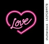 bright heart. neon sign. retro... | Shutterstock .eps vector #1429289978