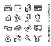 simple set of money related... | Shutterstock .eps vector #1429290005
